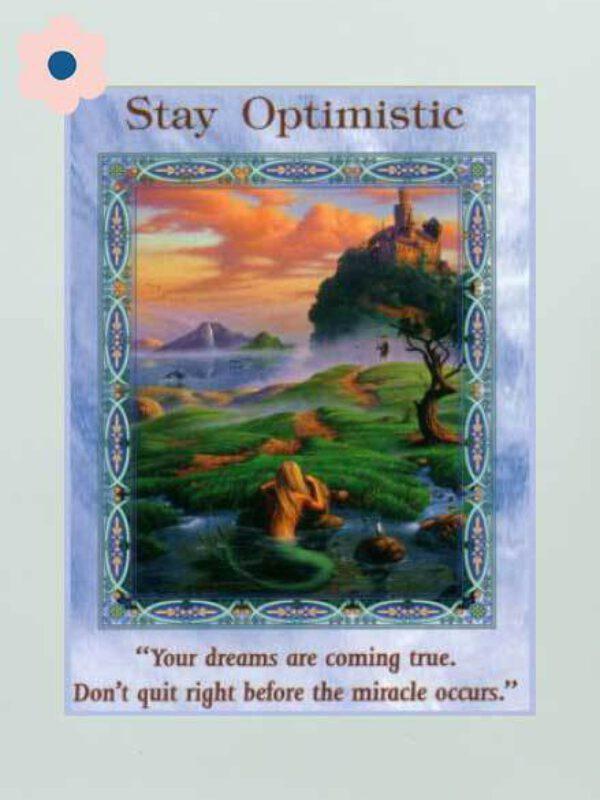 Wees optimistisch