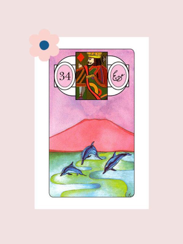 De Vissen - Lenormand kaart 34