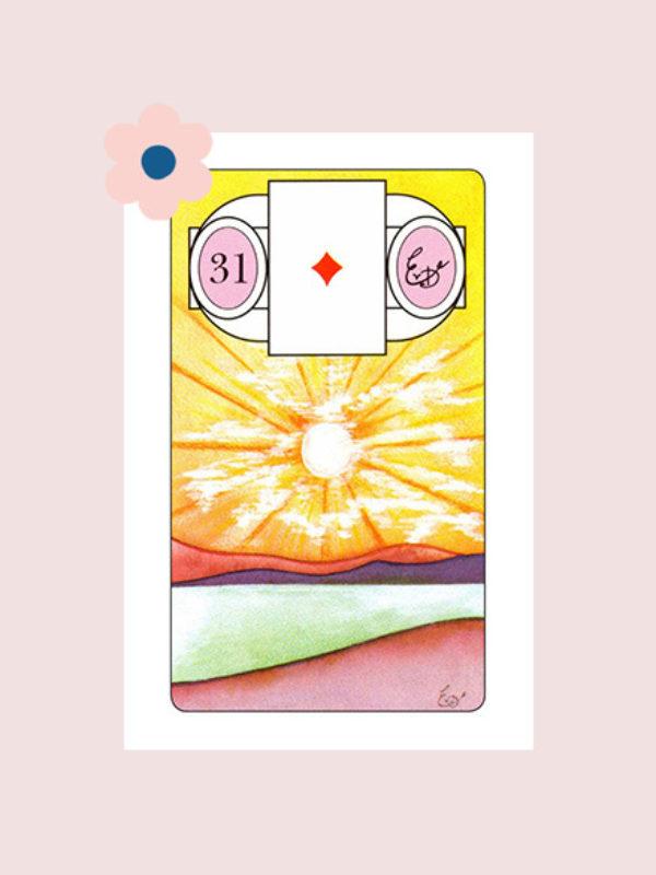 De Zon - Lenormand kaart 31
