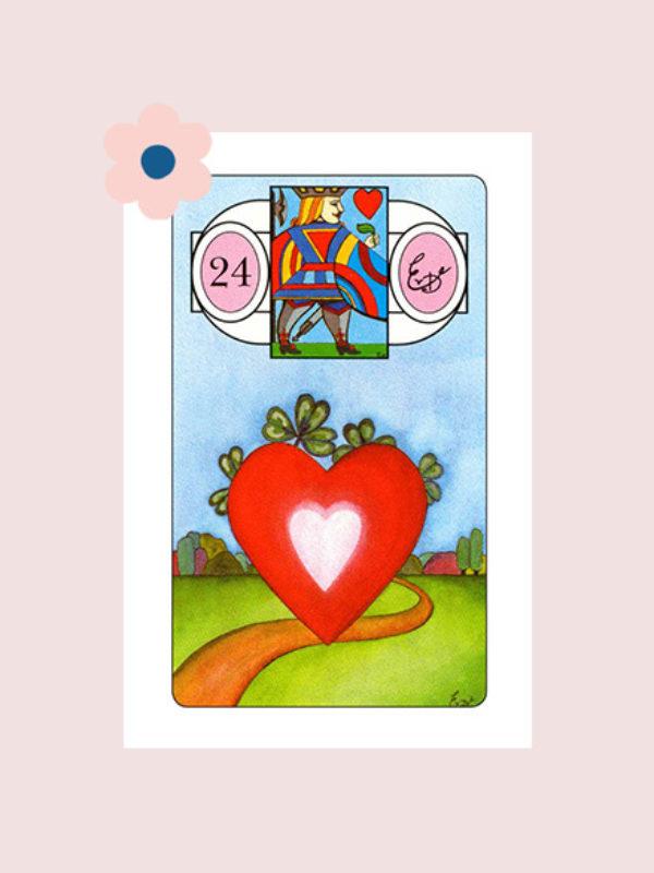 Het Hart - Lenormand kaart 24