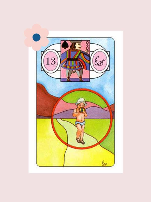 Het Kind - Lenormand kaart 13