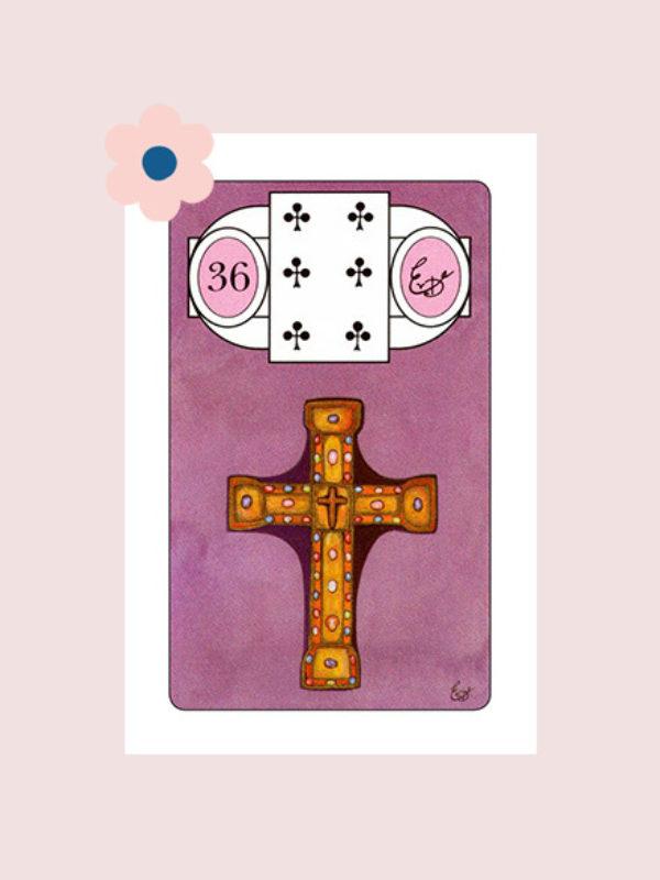 Het Kruis - Lenormand kaart 36