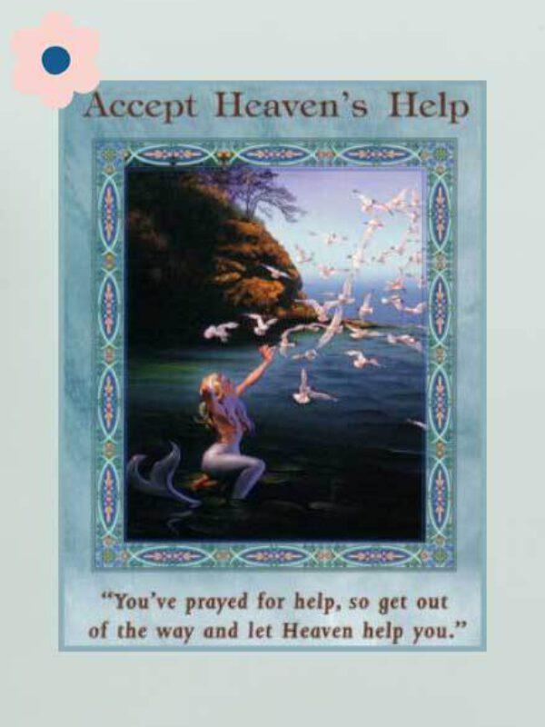 Accepteer hulp van het universum