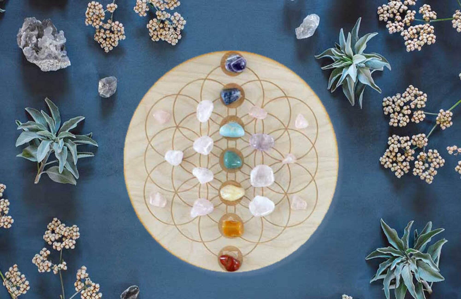 Crystal grids: een krachtige tool voor liefde, happiness en chakra's