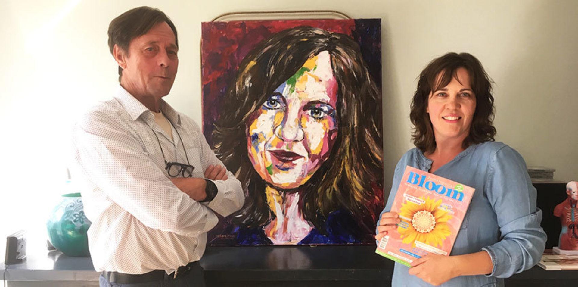 Drumroll please... Manon won een persoonlijk portret door kunstenaar Lambertus!