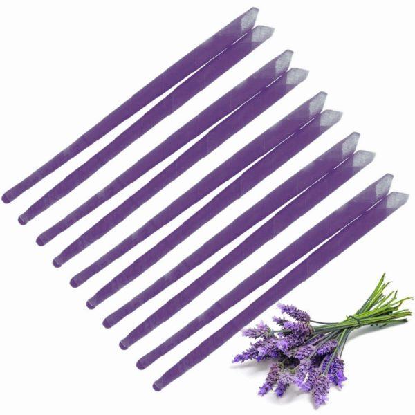 10X Lavendel Oorkaarsen