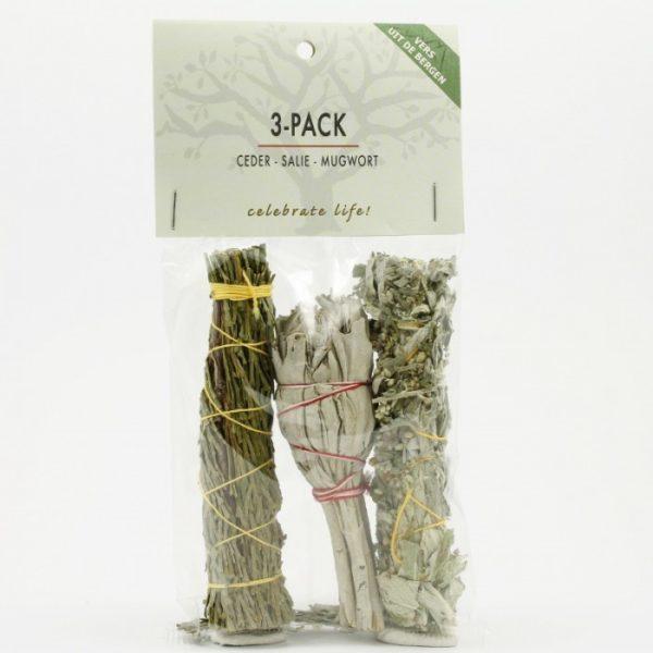 3-Pack Wierook Salie Ceder Mugwort Bloom web