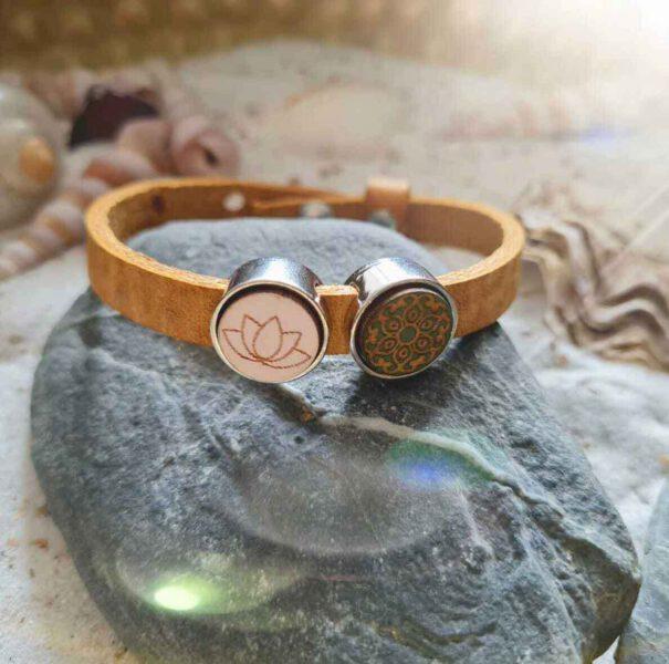 Armband Boho Lotus Geel Bloom Webshop
