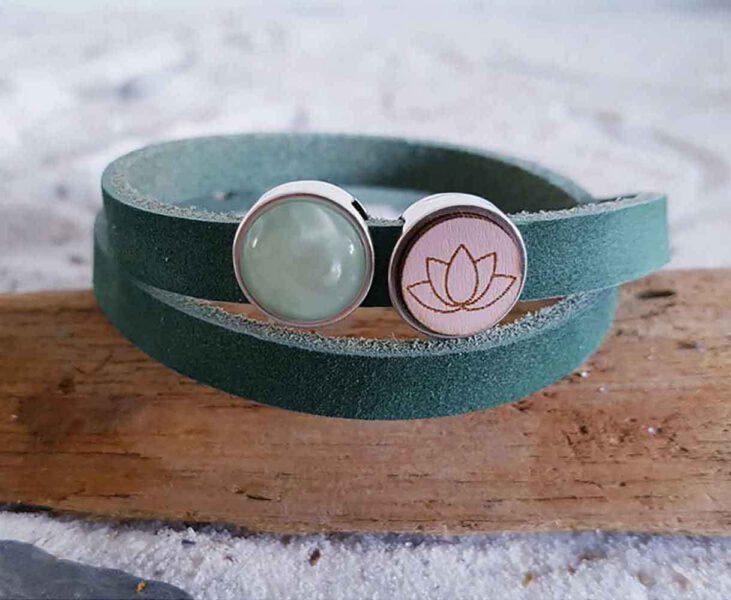 Armband Boho Lotus Groen Bloom Webshop Foto 1
