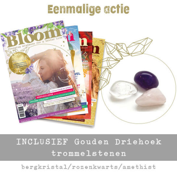 Bloom abonnement Print gold speciale actie gouden driehoek shop Bloom web 2