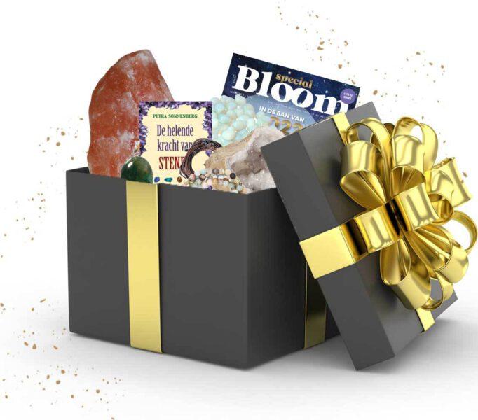 Cadeaubox kristallen edelstenen pakket cadeau Bloom web