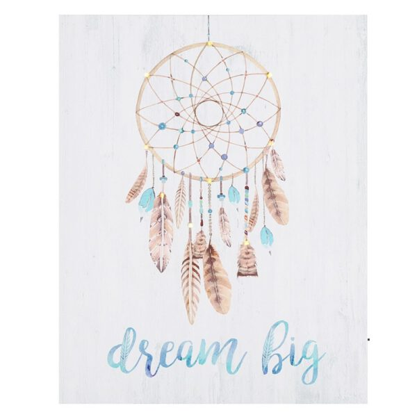 Canvas met dromenvanger LED verlichting Bloom Webshop