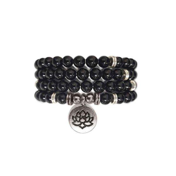 Edelstenen Armband Zwarte Onyx Parels