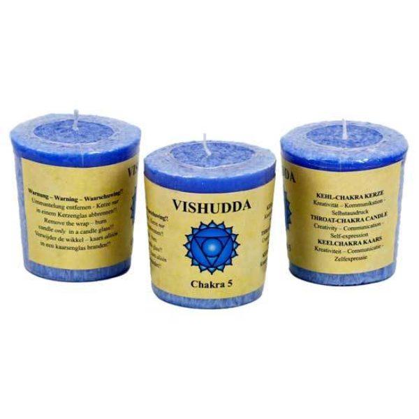Geurkaarsje 5e chakra Vishudda Bloom web