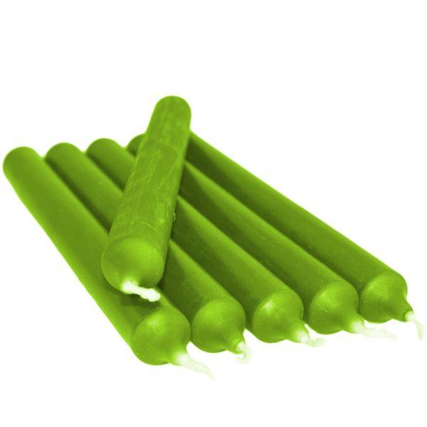 Gotische Kaars Groen 21Cm 6 Stuks Bloom web