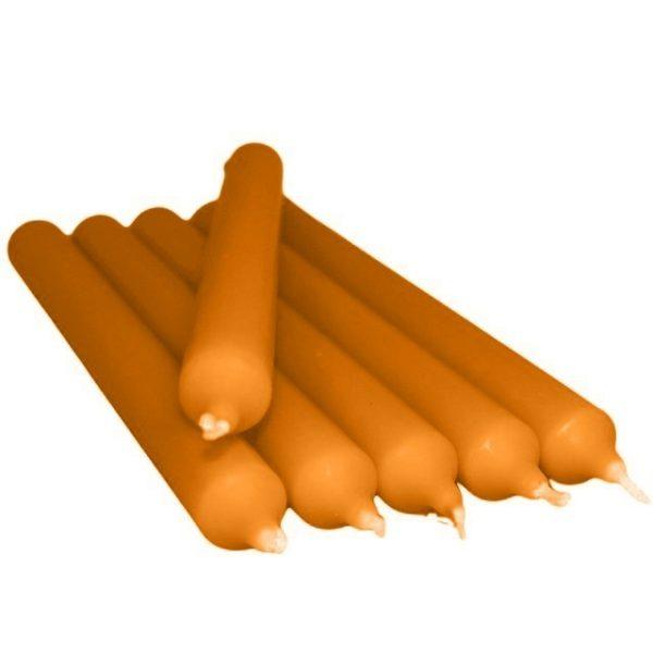 Gotische Kaars Oranje 21Cm 6 Stuks Bloom web