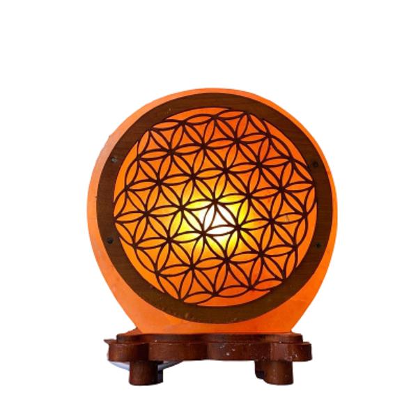 Himalaya Zoutlamp kristal lamp symbool Bloem des Levens 5 kg Bloom Webshop
