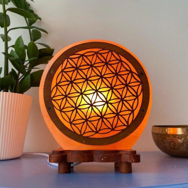 Himalaya Zoutlamp kristallamp symbool Bloem des Levens 5 kg Bloom Webshop