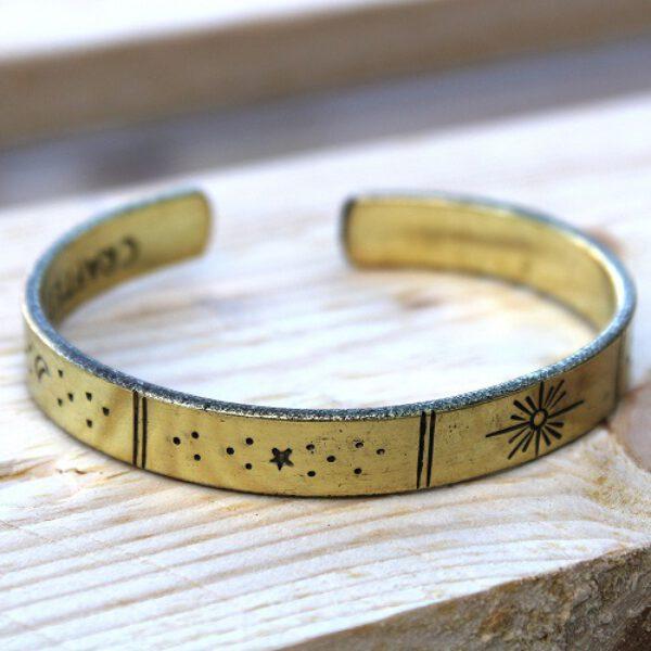 Inspiratie armband sterren maan zon Goudkleurig Bloom Webshop