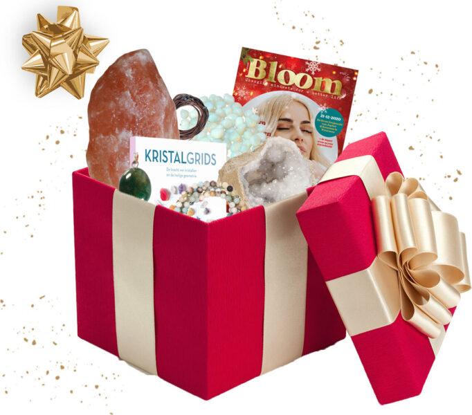 Kerstbox kristallen edelstenen pakket cadeau Bloom web