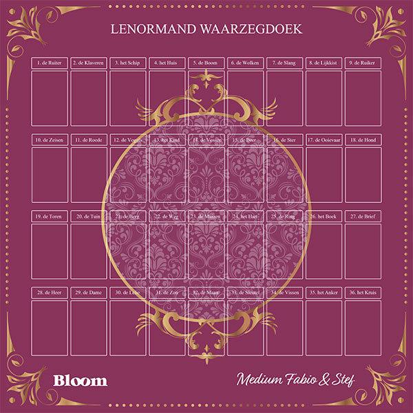 Lenormand Waargzegdoek bord kleed Bloom web