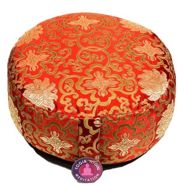 Meditatiekussen Lotusbloem Rood en Goud Bloom Web