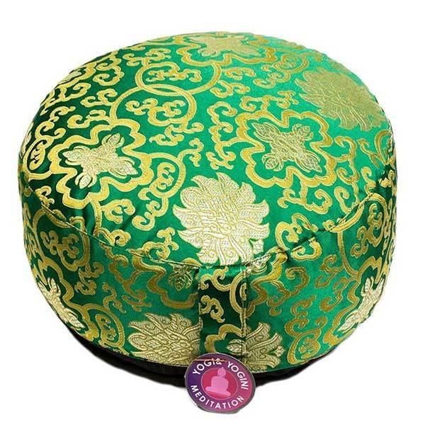 Meditatiekussen Lotusbloem groen en goud Bloom Web
