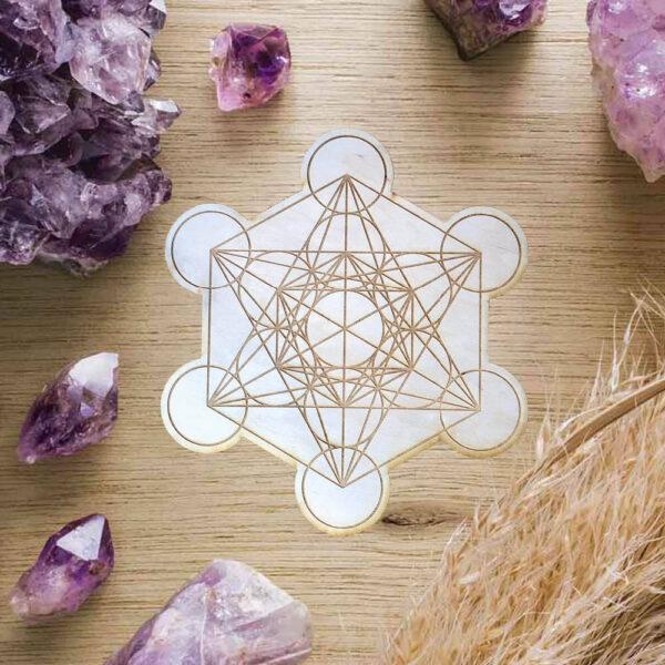 Metatron Cube Crystal Grid Bloom Zonder Edelstenen SEO