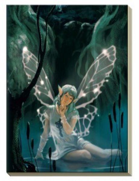Notitieboek met afbeelding Keltische fee Bloom web