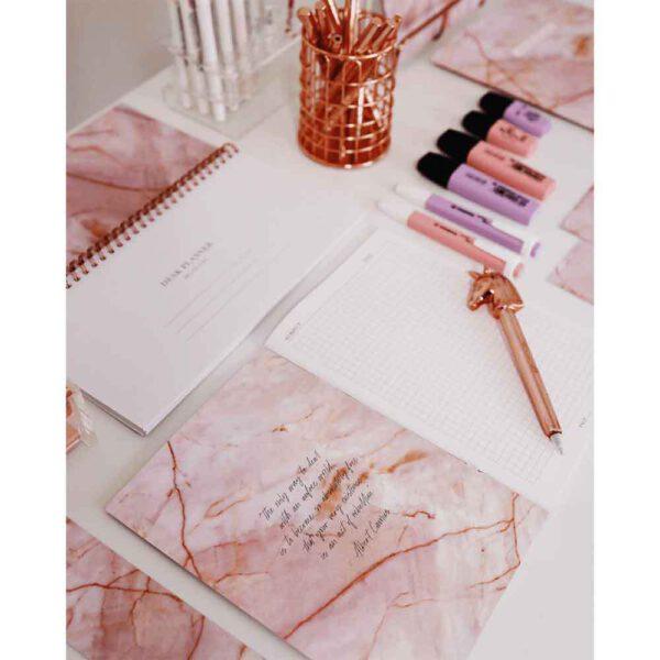 Notitieboek rozenkwarts A5 Bloom foto 1