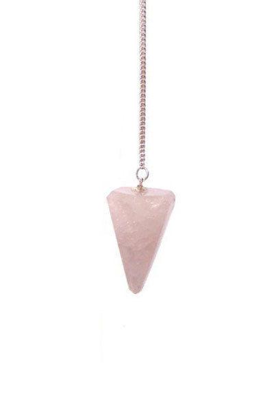 Pendel driehoek Rozenkwarts Bloom new