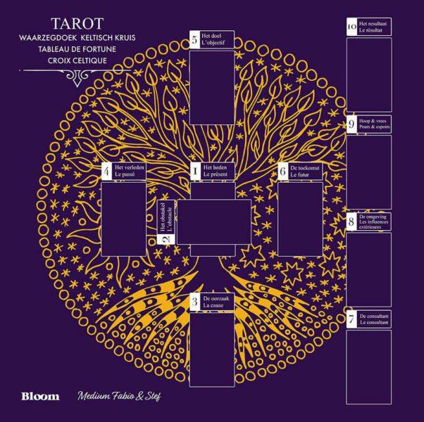 Tarot waarzegdoek Keltisch Kruis Fabio Vinago Bloom web