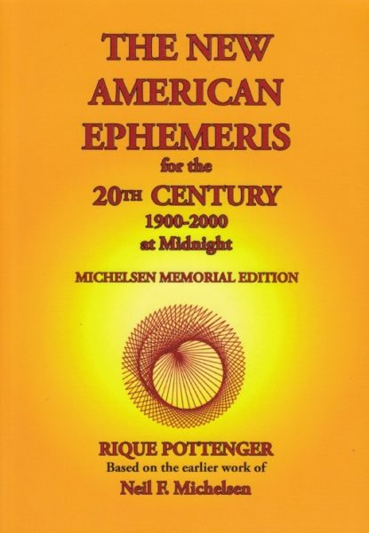 The New American Ephemeris 1900 2000 Rique Pottenger 9780976242291 Boek Bloom Web