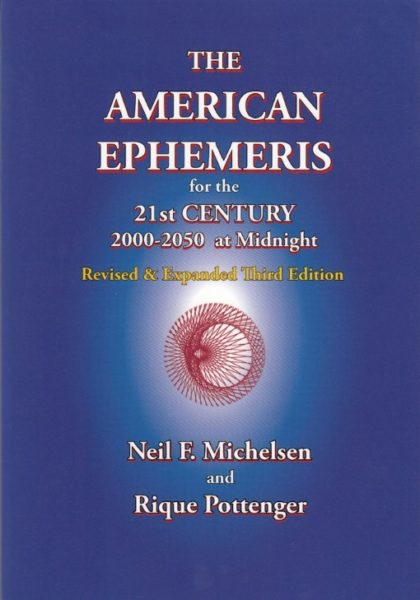 The New American Ephemeris 2000 2050 Rique Pottenger 9781934976135 Boek Bloom Web