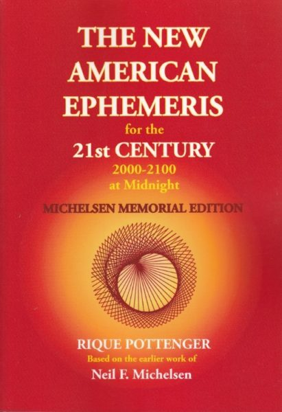 The New American Ephemeris 2000 2100 Rique Pottenger 9780976242239 Boek Bloom Web