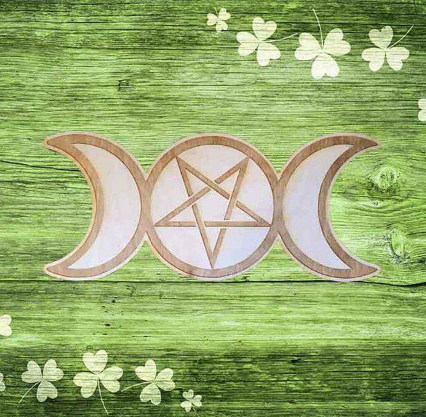 Triple Moon Pentagram Crystal Grid Webshop Bloom