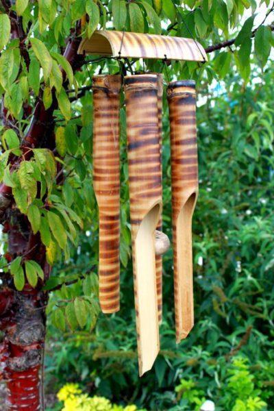 Windgong bamboe 4 buizen Decoratie Bloom Webshop