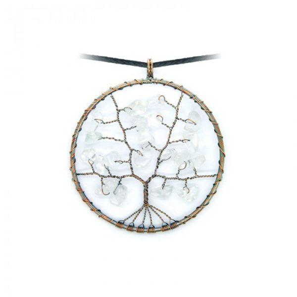 Levensboom Bergkristal ketting Bloom web