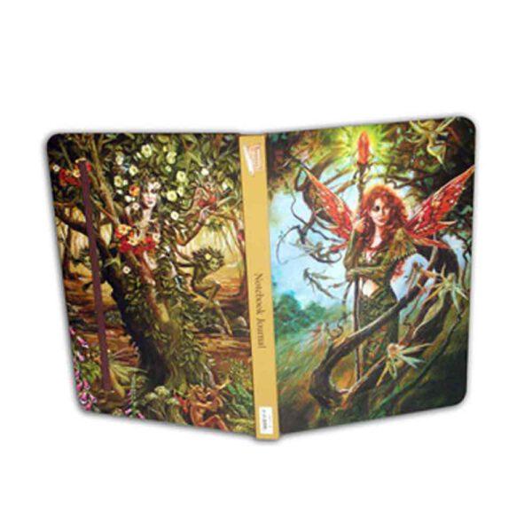 Notitieboek met afbeelding Spirit of the tree Dryade Bloom web