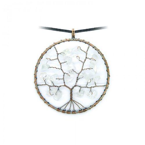 Levensboom Bergkristal ketting